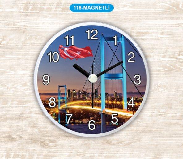 Dekoratif Magnetli Saat 11 CM BOGAZ