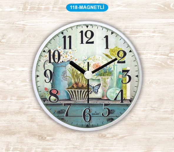 Dekoratif Magnetli Saat 11 CM Mutfak