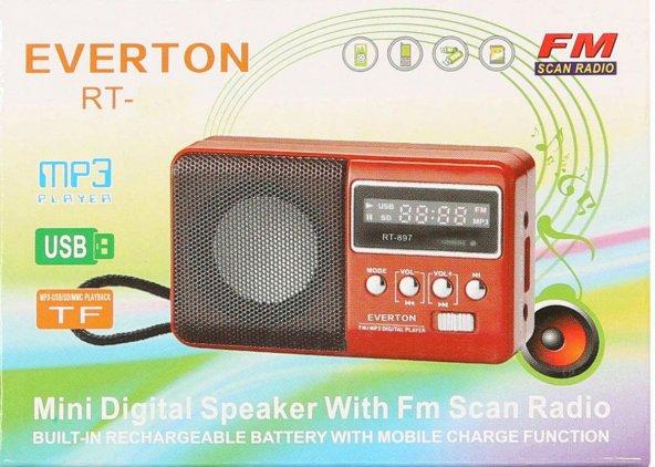 Everton RT-303 Usb Ve Micro Kart Girişli Manuel El Radyosu