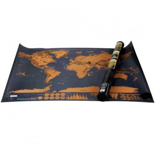 Scratch Map Kazıma Poster Haritası deluxe