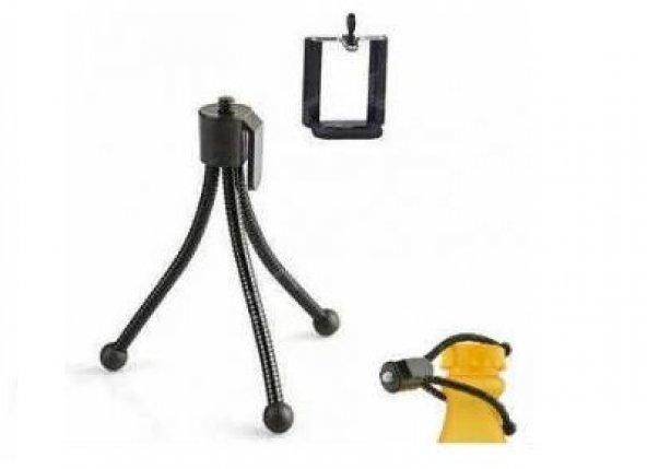 Telefon ve Kamera İçin Esnek Metal Mini Tripod (11 cm)