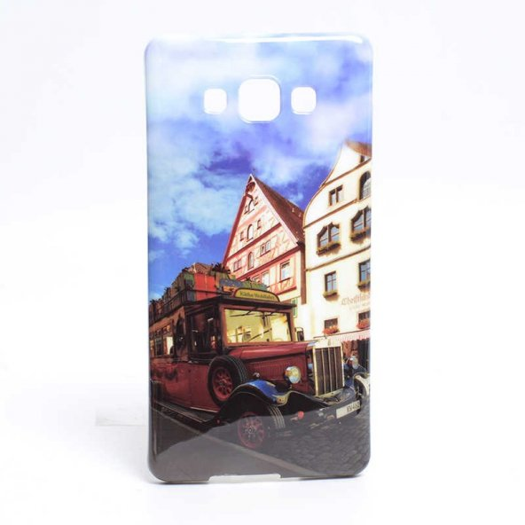Galaxy A7 Kılıf Zore Şehirli Desenli Silikon
