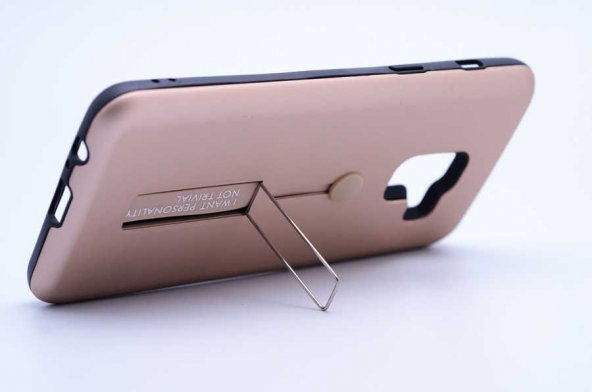Galaxy A8 Plus 2018 Kılıf Zore Olive Standlı Kapak