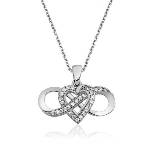 Gümüş Sonsuz Aşk Bayan Kolye