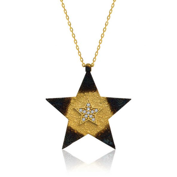 Gümüş Yıldız Bayan Kolye