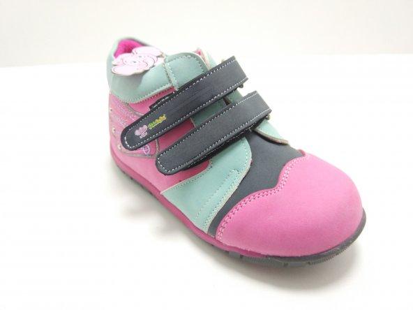 Şirinbebe Ortopedik Kız Çocuk Ayakkabı Fuşya
