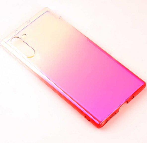 Galaxy Note 10 Kılıf Zore Renkli Transparan Silikon