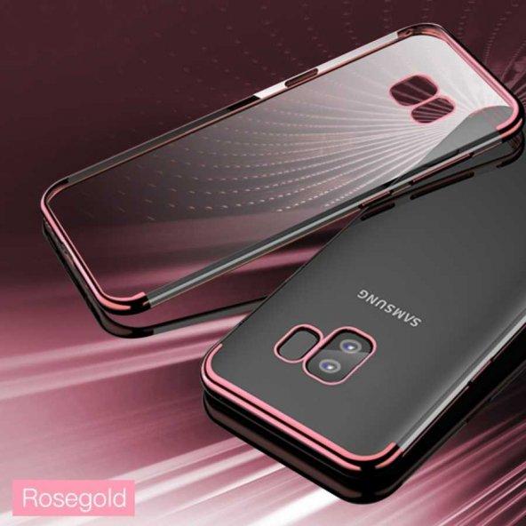 Galaxy S9 Kılıf Zore Dört Köşeli Lazer Silikon