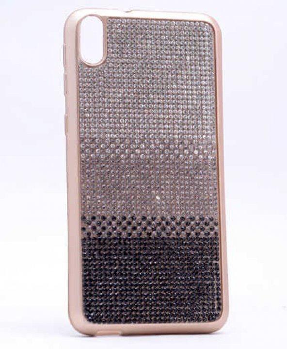 HTC Desire 820 Kılıf Zore Mat Lazer Taşlı Silikon