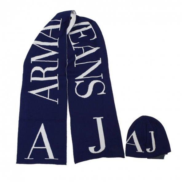 Armani Jeans Atkı Bere Set/FIRSAT ÜRÜN