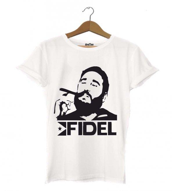 Fidel Castro Erkek Tişört - Dyetee