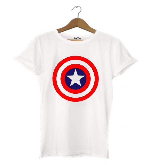 Captain America Erkek Tişört - Dyetee
