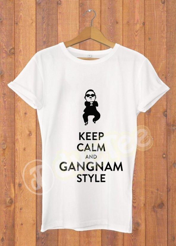 Keep Calm Gangnam Kadın Tişört - Dyetee