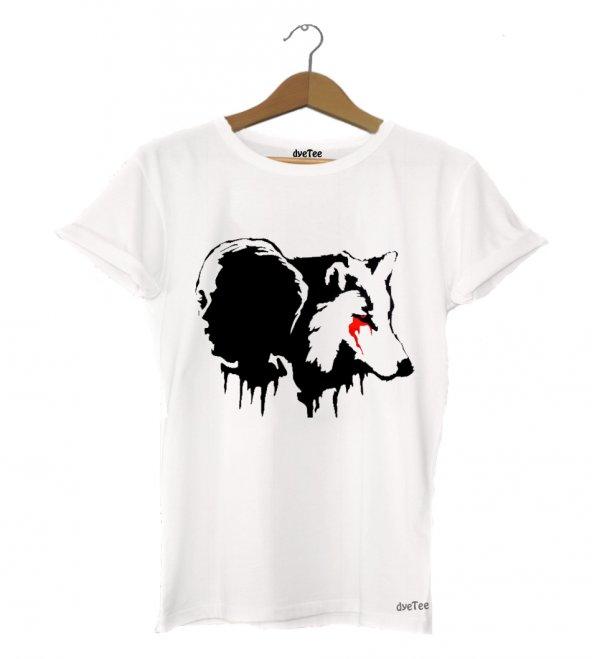Arya and Wolf Kadın Tişört - Dyetee