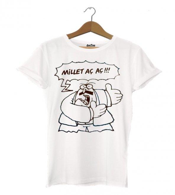 Millet Aç Kadın Tişört - Dyetee