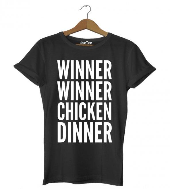 PUBG Chicken Dinner Kadın Tişört - Dyetee