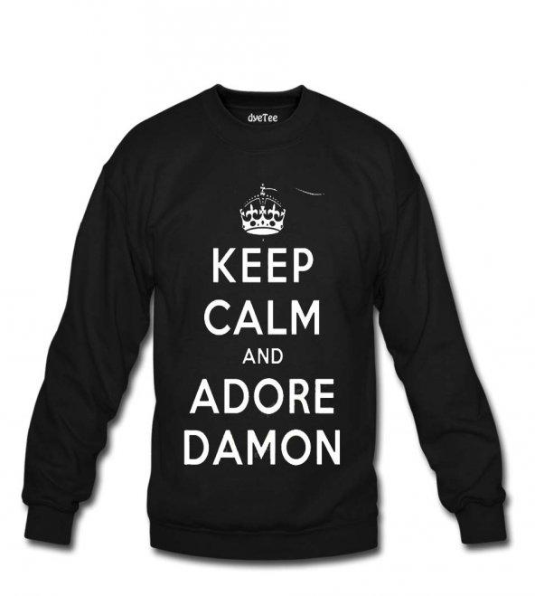 Vampire Diaries Keep Calm Erkek Sweatshirt ve Kapüşonlu - Dyetee
