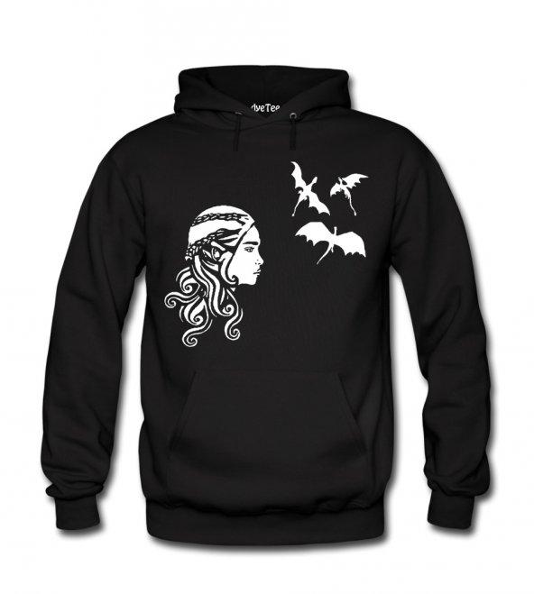 Khaleesi Erkek Sweatshirt ve Kapüşonlu - Dyetee