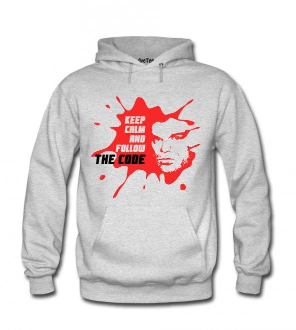 Keep Calm The Code Erkek Sweatshirt ve Kapüşonlu - Dyetee