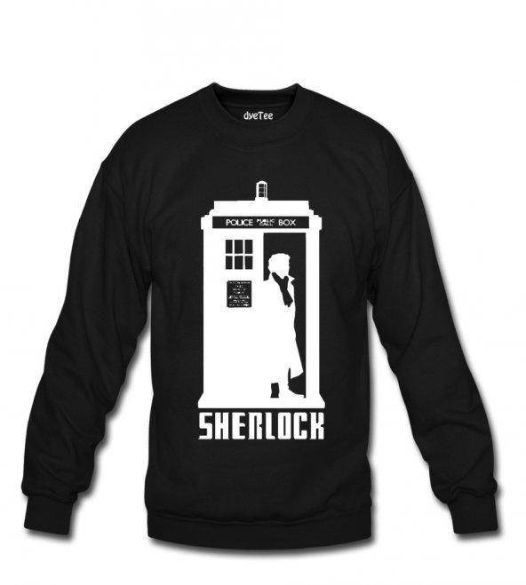 Doctor Sherlock Erkek Sweatshirt ve Kapüşonlu - Dyetee