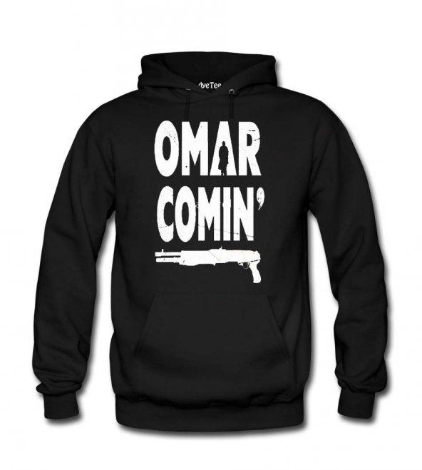 Omar Coming The Wire Erkek Sweatshirt ve Kapüşonlu - Dyetee