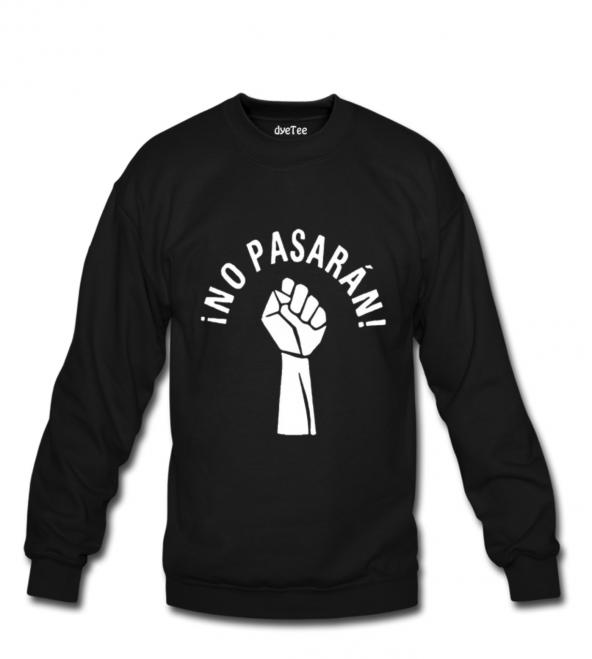 No Pasaran Erkek Sweatshirt ve Kapüşonlu - Dyetee
