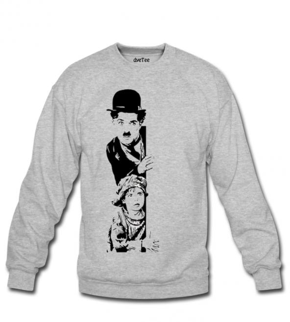 Charlie Chaplin The Kid Erkek Sweatshirt ve Kapüşonlu - Dyetee