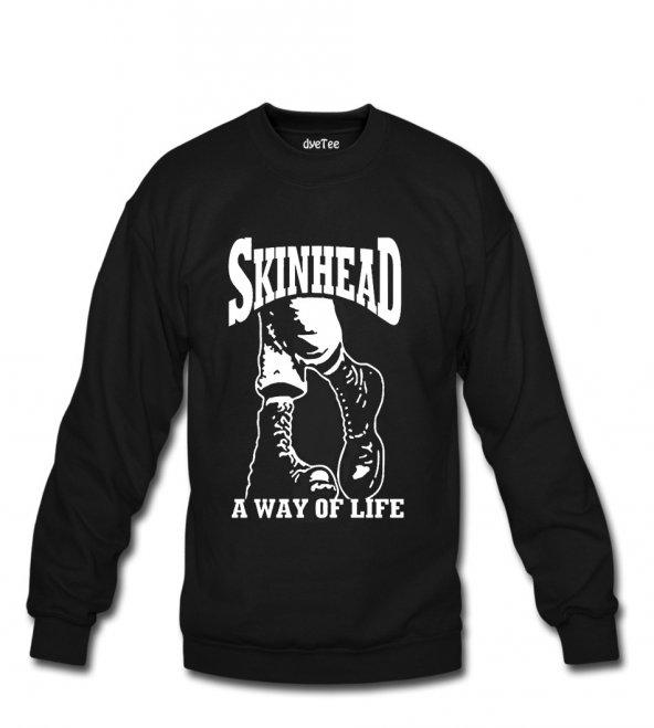Skinhead Kadın Sweatshirt ve Kapüşonlu - Dyetee
