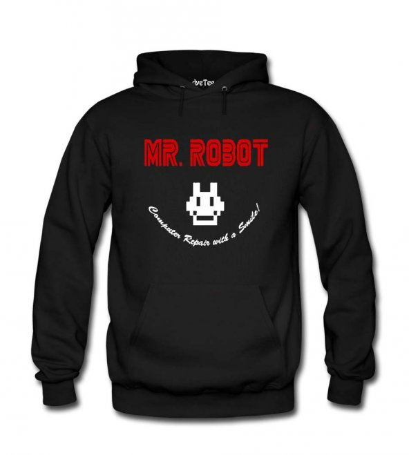 Mr Robot Computer Repair Kadın Sweatshirt ve Kapüşonlu - Dyetee
