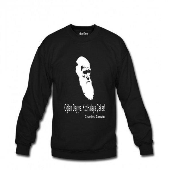 Darwin Kadın Sweatshirt ve Kapüşonlu - Dyetee