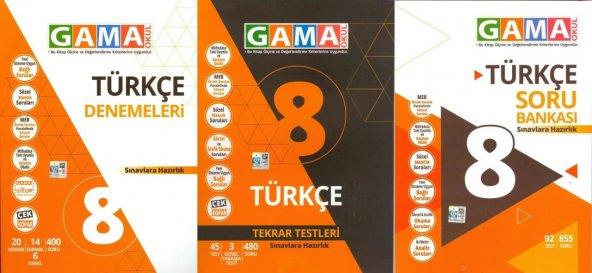 8.Sınıf Türkçe 3 lü Set Gama Okul Yayınları