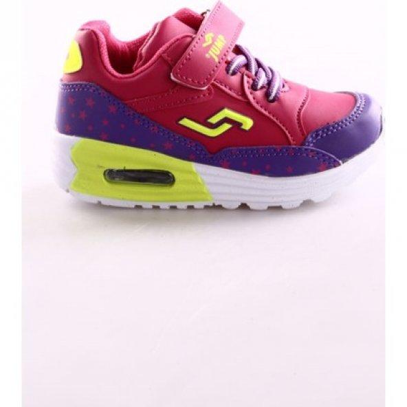 Jump Mor Fuşya Kız Çocuk Spor Ayakkabı 17017