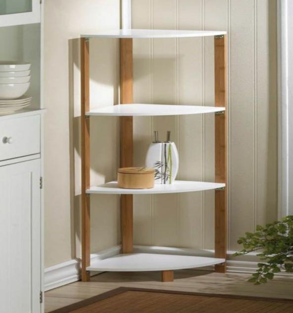 4 katlı köşe modern tasarım kitaplık, Dekoratif kitaplık Tamamı MDF