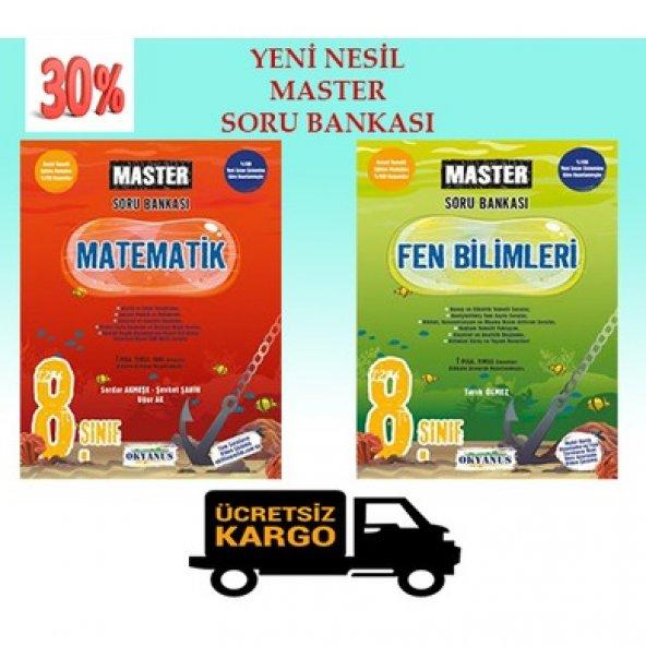 OKYANUS 8.SINIF MASTER MATEMATİK-FEN BİLİMLERİ SORU BANKASI