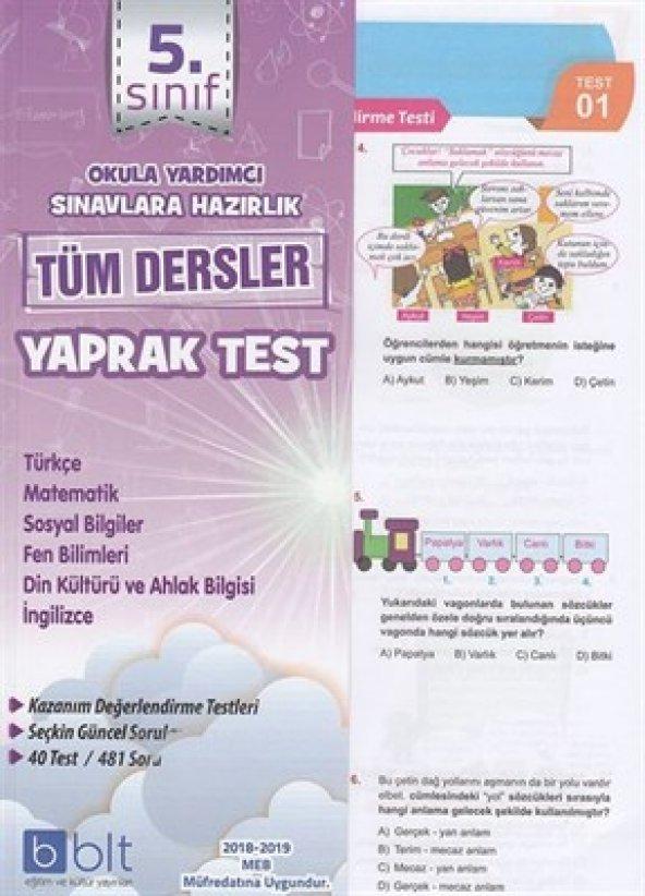 BULUT 5.SINIF TÜM DERSLER YAPRAK TEST (YENİ)
