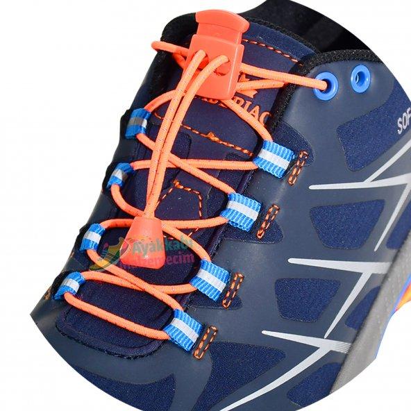 Akıllı Kilitli Elastik Ayakkabı Bağcık 100 Cm Video Tanıtımlı