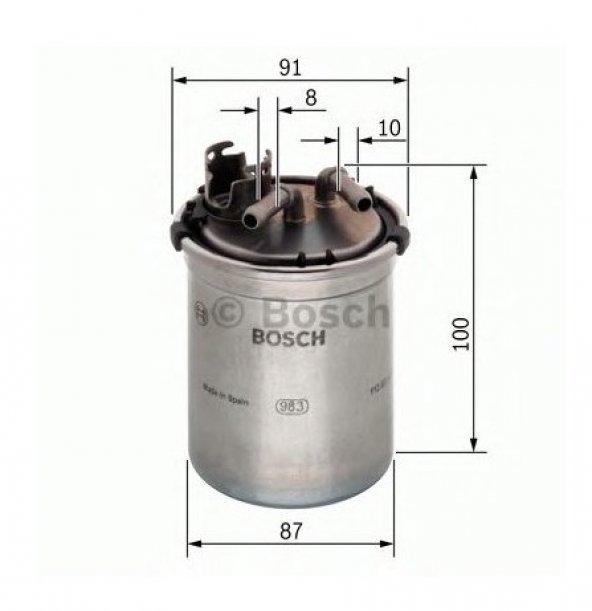 MERCEDES ML 300 CDI YAKIT FİLTRESİ [BOSCH] F026402056