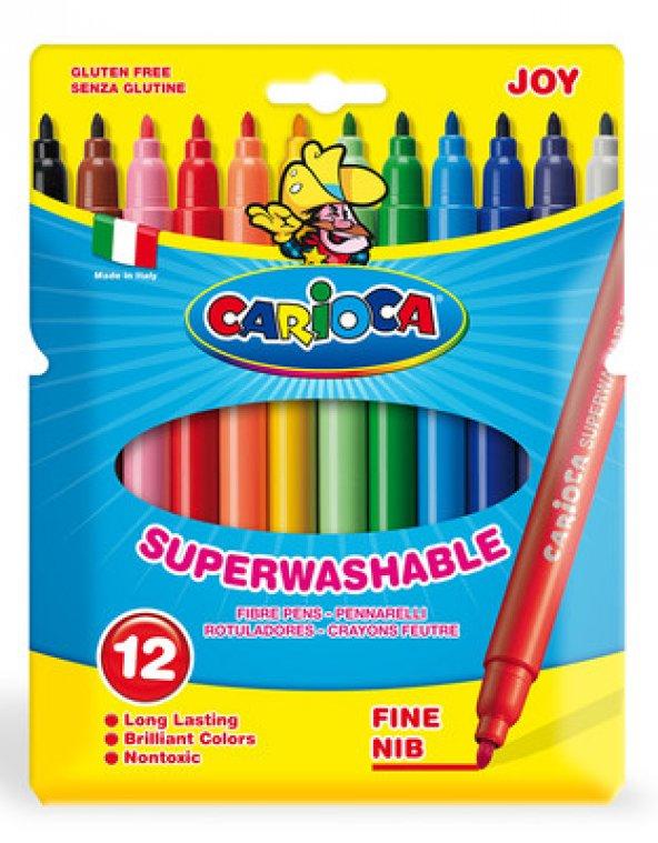 Carioca Joy Keçeli Boya Kalemi Yıkabanilir 12li