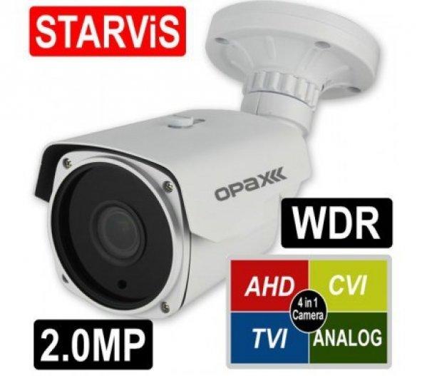 OPAX-1123 2mp 2.8-12mm Varifocal Lens 4in1 IR Bullet AHD Kamera
