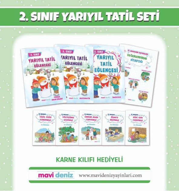 Mavi Deniz Yayınları 2.Sınıf Yarıyıl Tatil Seti 2019-2020