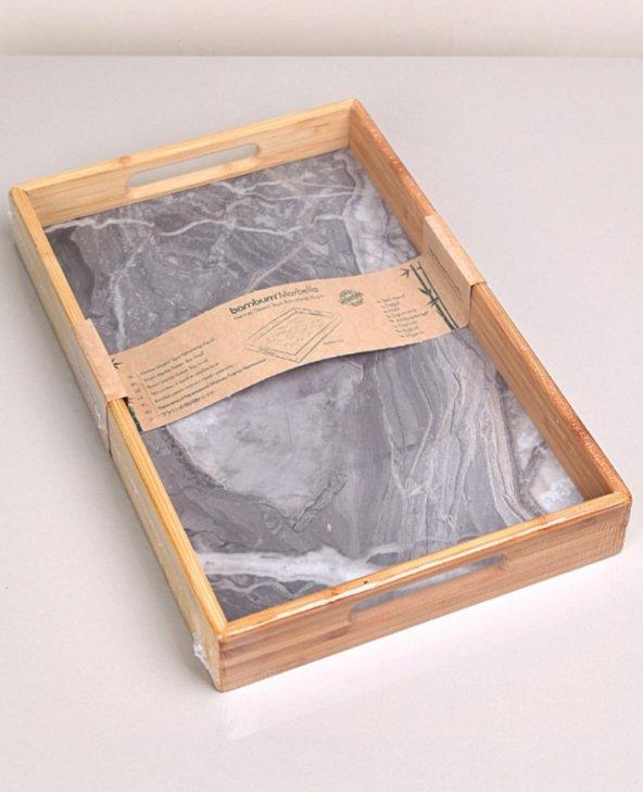 Bambum marbella granit desen orta boy tepsi