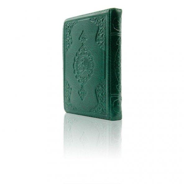 Çanta Boy Kuran-ı Kerim (Yeşil Renk, Kılıflı, Mühürlü)