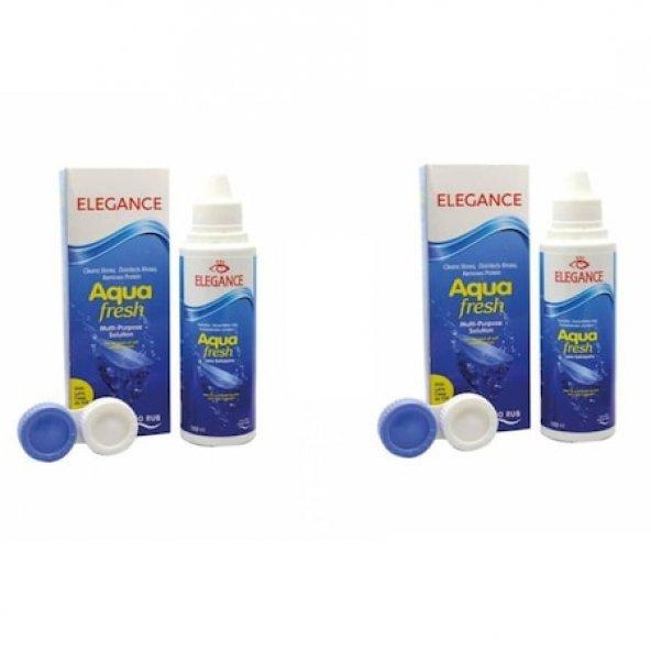 Elegance Aqua Fresh 100ML Çok Amaçlı Lens Solüsyonu 2 adet