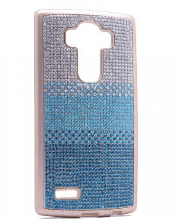 LG G3 Kılıf Zore Mat Lazer Taşlı Silikon