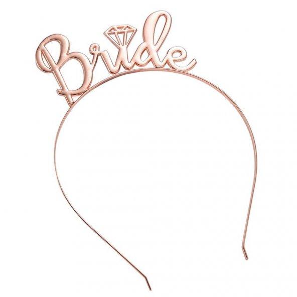 1 Adet Gold Rose Bride To Be Taç, Bekarlığa Veda Nedime Taçı