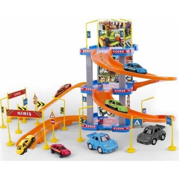 Erdem Oyuncak Otopark 3 Katlı Süper Garaj Seti 41 Parça