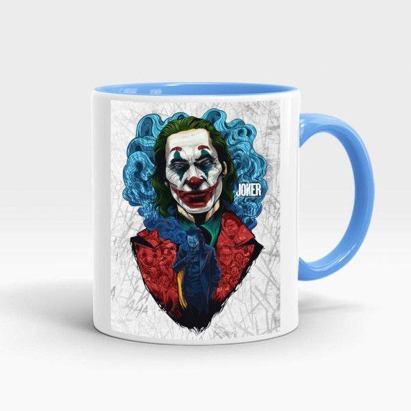 Joker Baskılı İçi ve Kulpu Mavi Kupa 6
