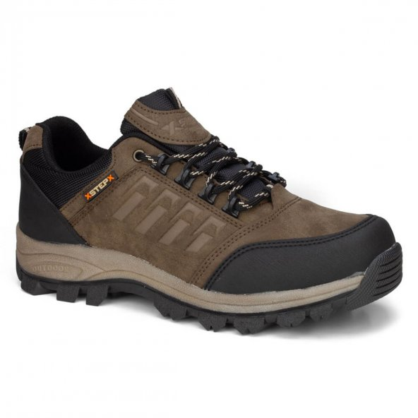 X-Step Erkek Vizon  Outdoor Bağcıklı Kışlık Ayakkabı
