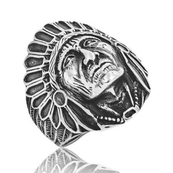 Gümüş Kızılderili Erkek Yüzük