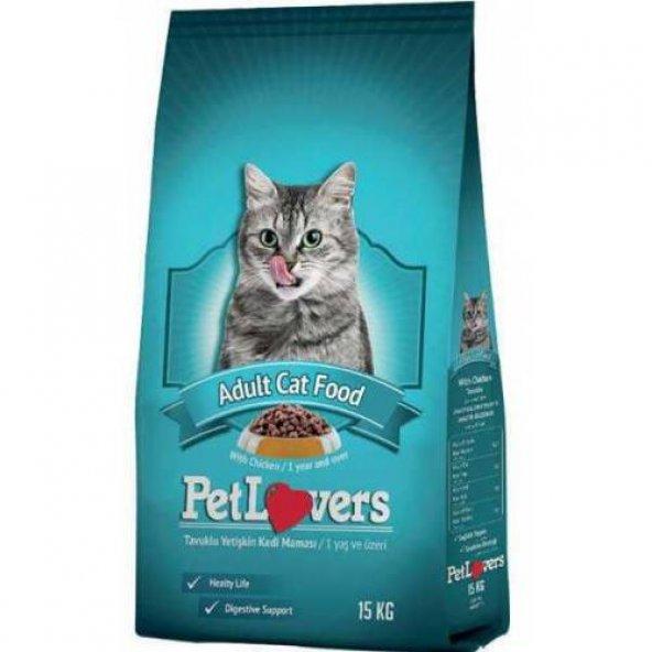 Pet Lovers Tavuklu Yetişkin Kedi Maması 15 Kg.